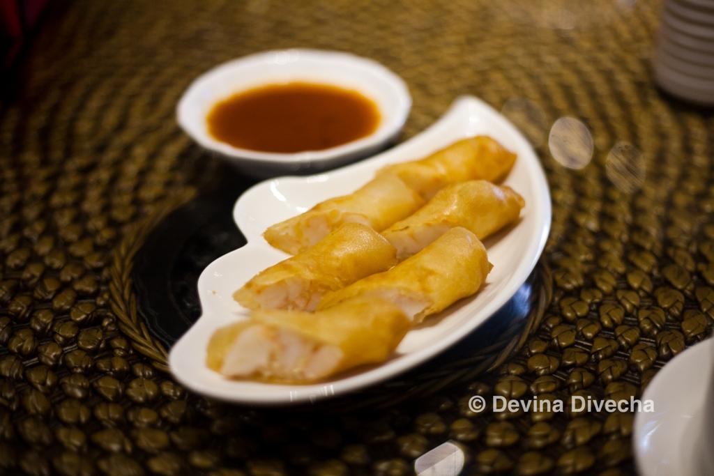 Shrimp spring rolls Homey Chinese JLT