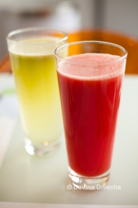 Green apple and watermelon juice