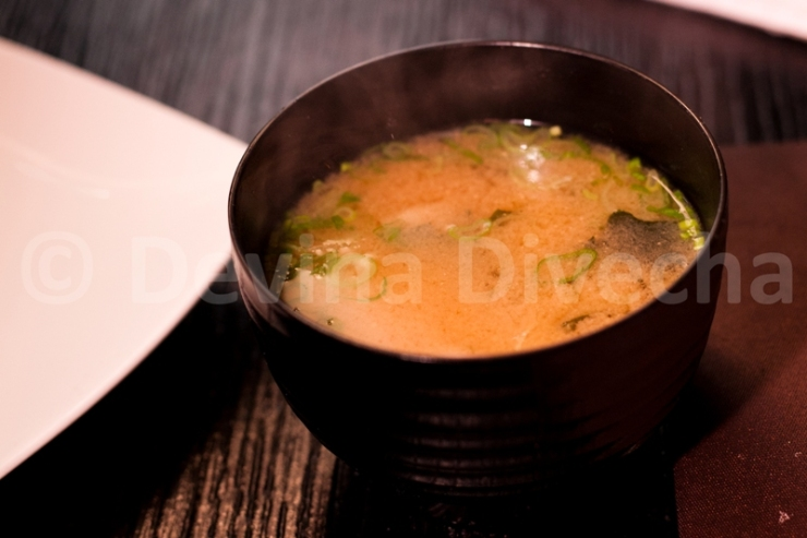 Miso soup at Okku