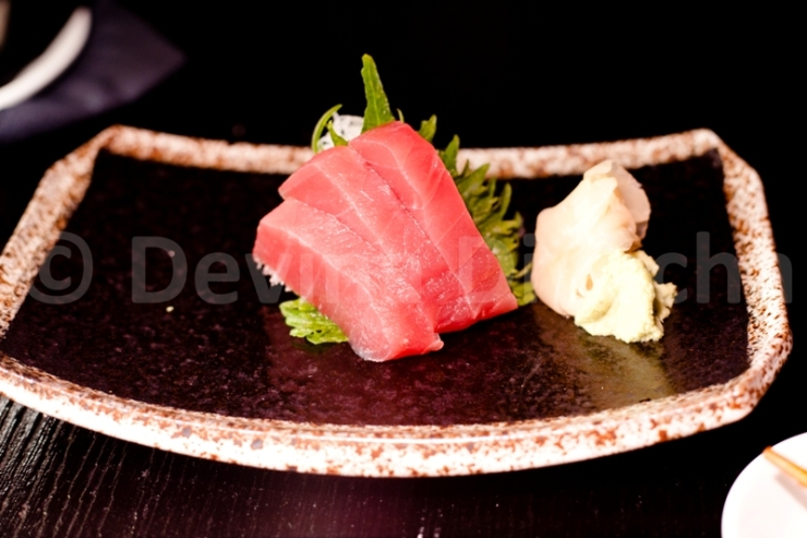 Tuna sashimi at Okku