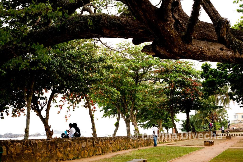Walking around Galle Fort