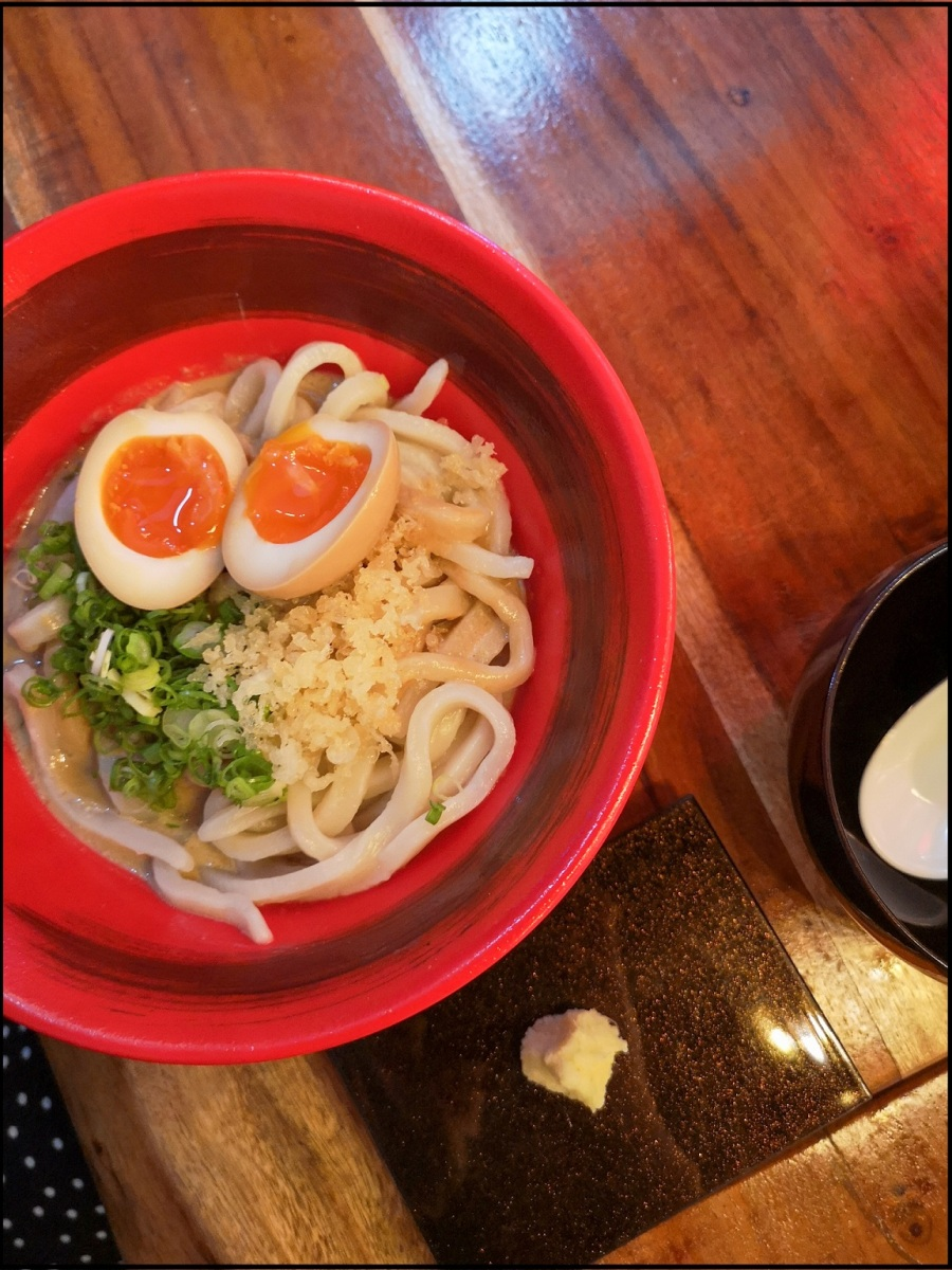 Hand pulled noodles at Maru Udon